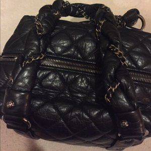 CHANEL Bags - Chanel Square Quilted Leather Embellished Tote